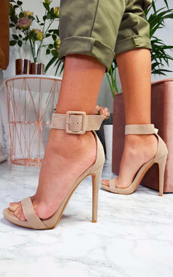 View the Mandy Barely There Buckle Heels online at iKrush