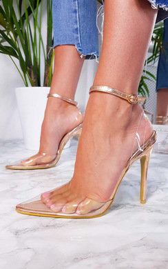 View the Mandy Perspex Pointed Court Heels online at iKrush