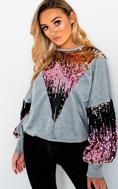 View the Maren Sequin Oversized Jumper  online at iKrush