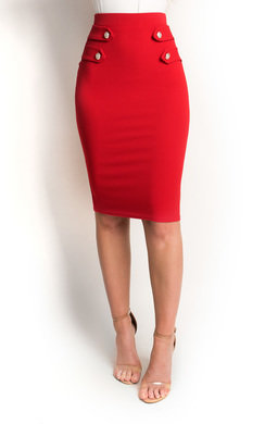 View the Margo Bodycon Button Pencil Skirt online at iKrush