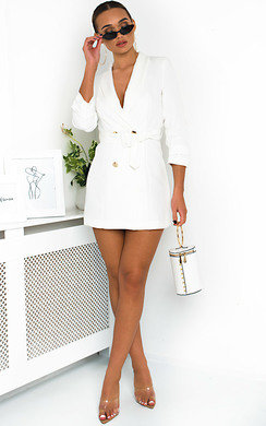 View the Margot Belt Blazer Dress online at iKrush