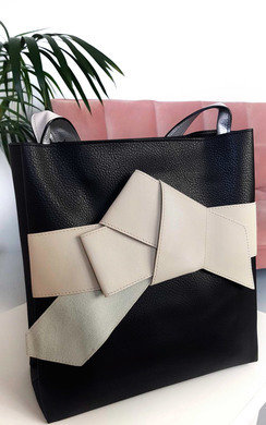 View the Maria Colour Block Bow Tote Handbag online at iKrush