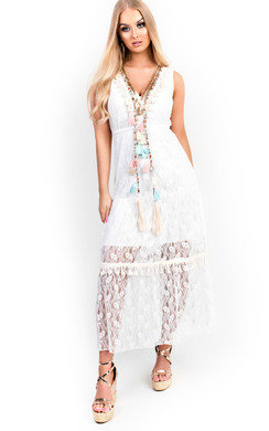 View the Maria Crochet Lace Dress  online at iKrush