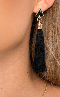 View the Maria Tassel Earrings  online at iKrush