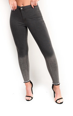 View the Marie Diamante High Waisted Frayed Skinny Jeans online at iKrush
