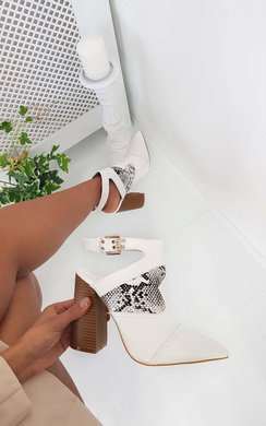 View the Marina Buckle Block Heel Boots online at iKrush