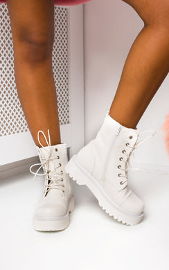 View the Marina Lace Up Biker Boots online at iKrush