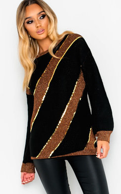 View the Marina Sequin Embellished Knitted Jumper online at iKrush