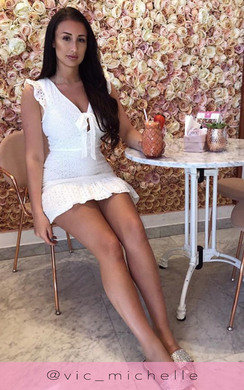 View the Marissa Crochet Lace Mini Dress online at iKrush