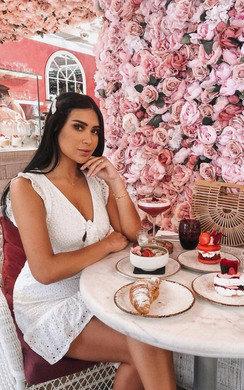 View the Marissa Crochet Lace Mini Dress online at iKrush