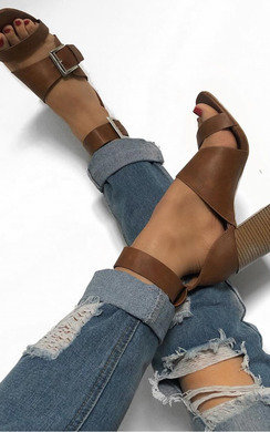 View the Martha Buckle Block Heels online at iKrush