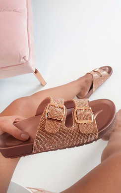 View the Marti Diamante Embellished Buckle Sliders online at iKrush