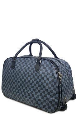 View the Mason Checked Travel Trolley Bag  online at iKrush