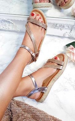 View the Matilda Diamante Flatform Sandals online at iKrush