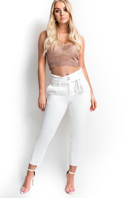 View the Matilda Tie Waist Mom Jeans online at iKrush