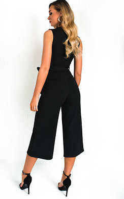 View the Mayah V Neck Culotte Jumpsuit online at iKrush