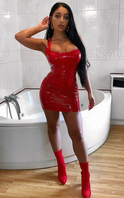 View the Meg PVC Bodycon Mini Dress online at iKrush