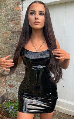 View the Meg PVC Bodycon Mini Dress online at iKrush