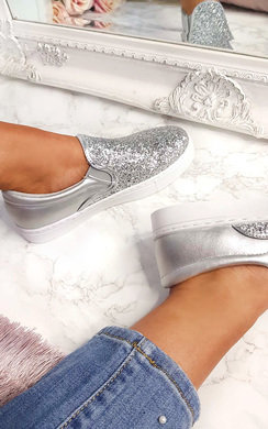 View the Meg Slip On Chunky Glitter Trainer online at iKrush