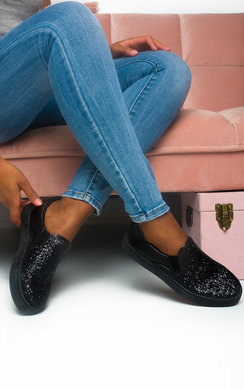 View the Meg Slip On Chunky Glitter Trainer online at iKrush