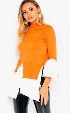 View the Meggie Frill Shirt Hem Jumper online at iKrush