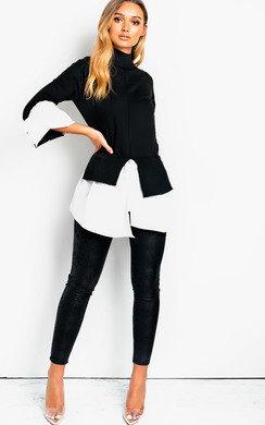 View the Meggie Frill Shirt Hem Jumper online at iKrush