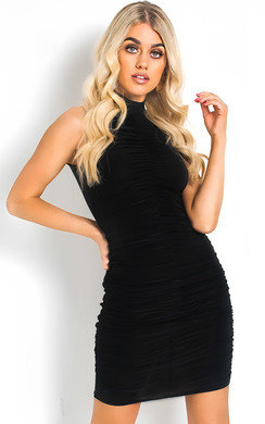 View the Meggie Ruched Bodycon Dress online at iKrush