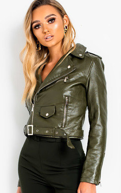 View the Meggy Faux Leather Jacket online at iKrush
