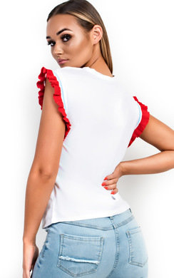 View the Mel Frill Strawberry Embellished T-Shirt online at iKrush