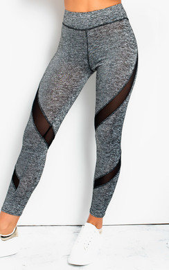 View the Melani Lycra Mesh Panel Leggings Diagonal online at iKrush