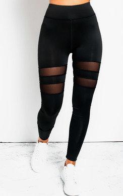View the Melani Lycra Mesh Panel Leggings Straight   online at iKrush
