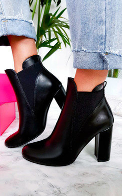 View the Melanie Heeled Ankle Boots online at iKrush