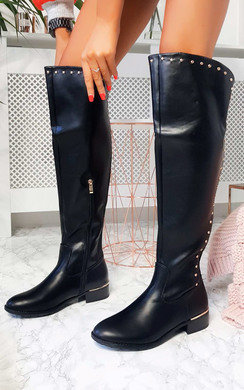 View the Melba Faux Leather Over Knee Boots online at iKrush