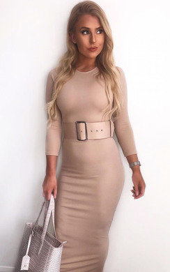View the Melia Belted Fitted Maxi Dress online at iKrush