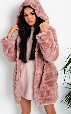 View the Melisa Faux Fur Coat online at iKrush