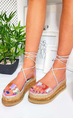 View the Melissa Cork Strappy Wedge Sandals online at iKrush