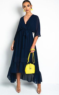 View the Melody Belted Frill Maxi Dress online at iKrush