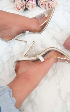 View the Mia Perspex Court Heels online at iKrush