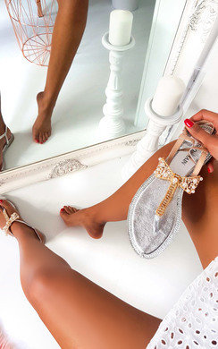 View the Michaela Embellished T Bar Sandals  online at iKrush