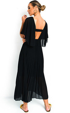 View the Michaela Pleated Maxi Dress online at iKrush