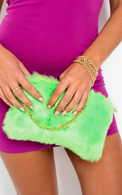 View the Mickey Faux Fur Shoulder Bag online at iKrush