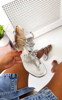 View the Mickie Embellished T Bar Sandals  online at iKrush