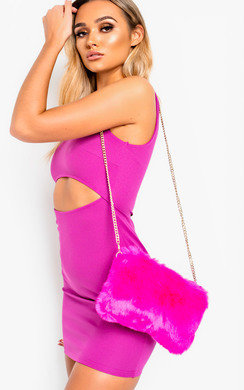 View the Micky Faux Fur Shoulder Bag online at iKrush