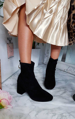 View the Mika Ring Block Heel Ankle Boots online at iKrush