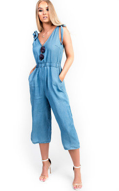 View the Mila Denim Jumpsuit online at iKrush