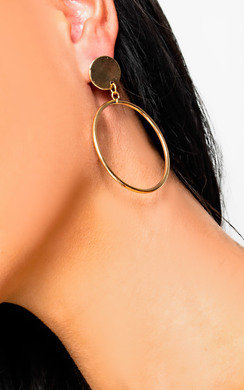 View the Mila Drop Hoop Earrings  online at iKrush