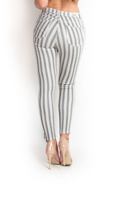 View the Miley Striped Mid Rise Skinny Jeans online at iKrush