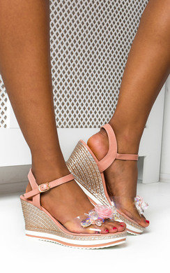 View the Mimi Flower Braided Wedged Heel online at iKrush