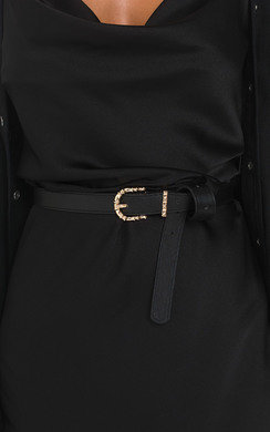 View the Mina Faux Leather Belt online at iKrush