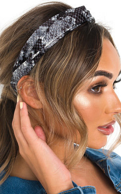 View the Mina Snake Print Headband online at iKrush